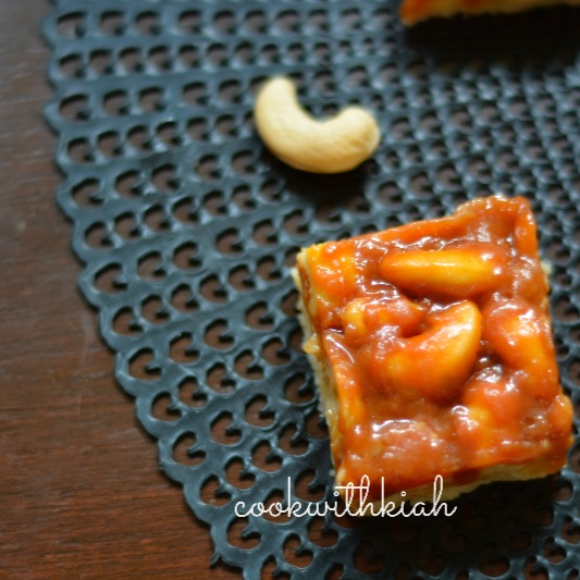 How to make Salted Cashew Caramel Bars