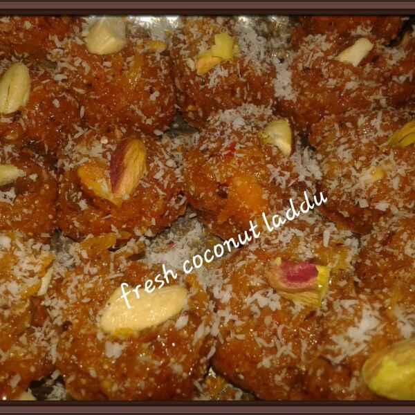 How to make Fresh Coconut Laddu