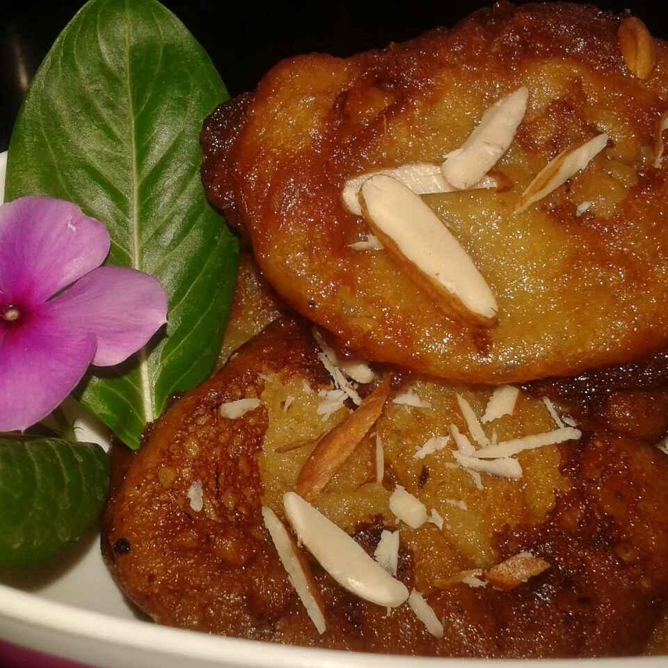 How to make Banana wheat flour malpua