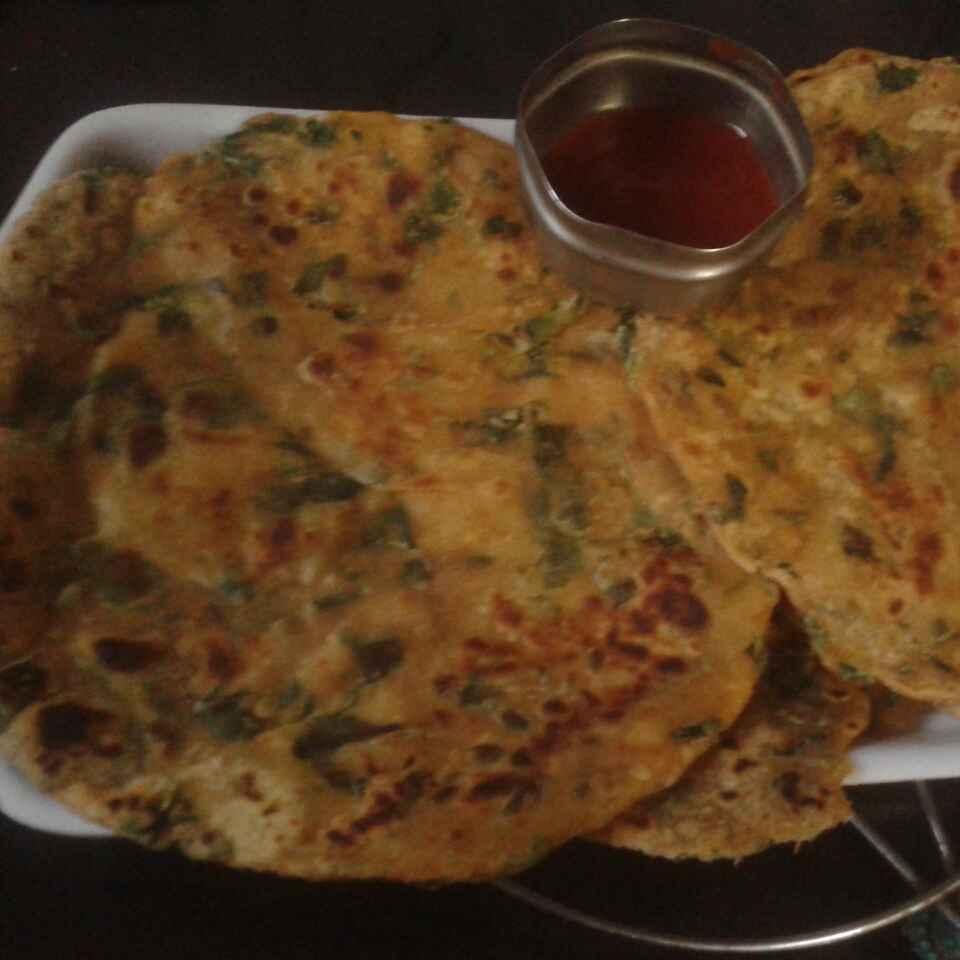Photo of Palak ka paratha by Kiran Kherajani at BetterButter