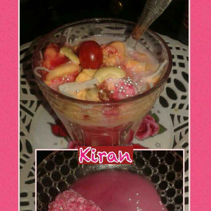 How to make Red Beauty Falooda Ice Cream