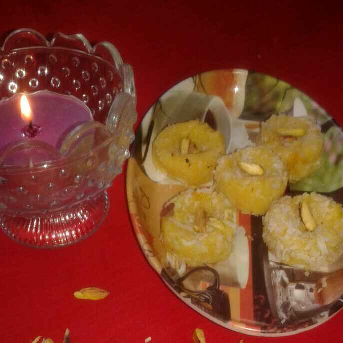 Photo of Mango malai peda by Kiran Kherajani at BetterButter