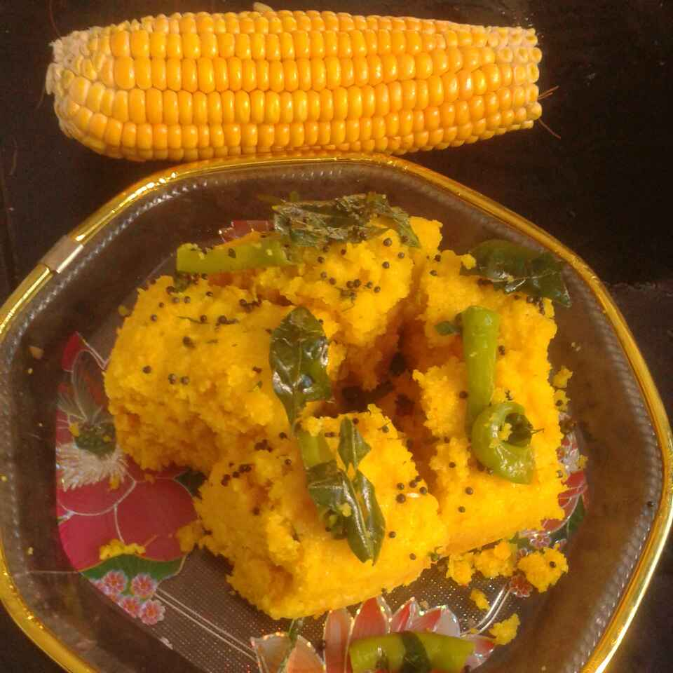 How to make Corn dhokla