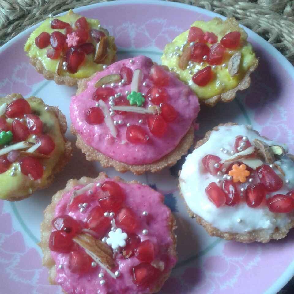 Photo of Pomgranate rawa tart by Kiran Kherajani at BetterButter