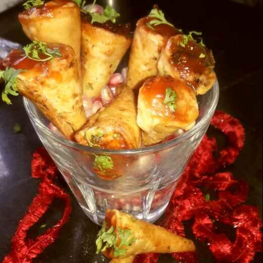Photo of Mini pizza chese cone by Kiran Kherajani at BetterButter