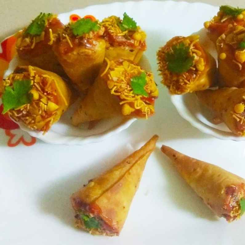 How to make Cone Samosa with paneer stuffing