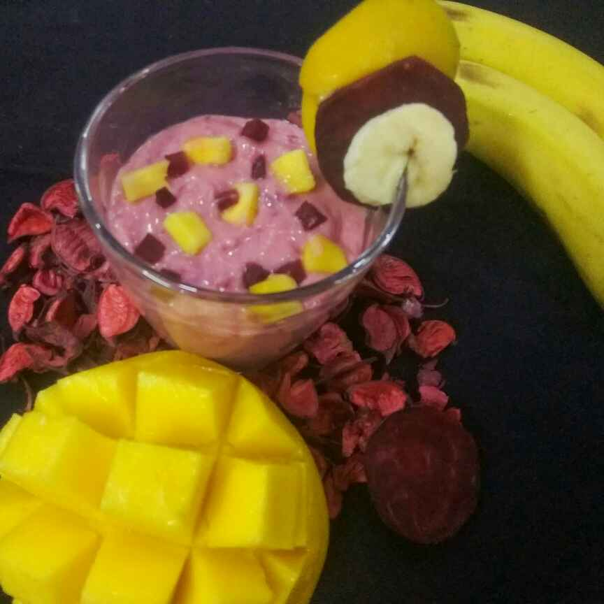 How to make Mango Beetroot Smoothie with Banana