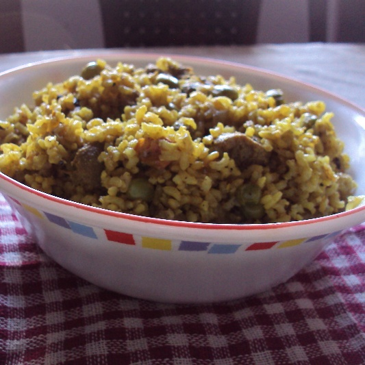 How to make Soya Mutter Pulao with Brown Rice