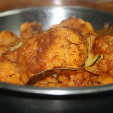How to make Roasted Cauliflower in Bengali Style