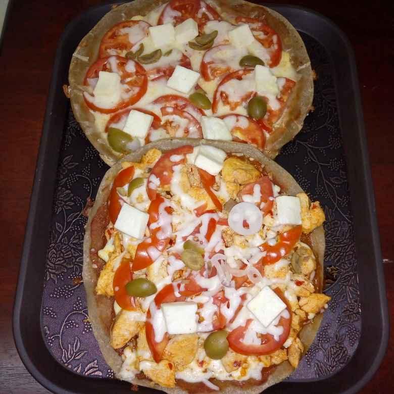 Photo of Chicken, mushrooom and veg millets pizza by Krishnakumari Marupudi at BetterButter