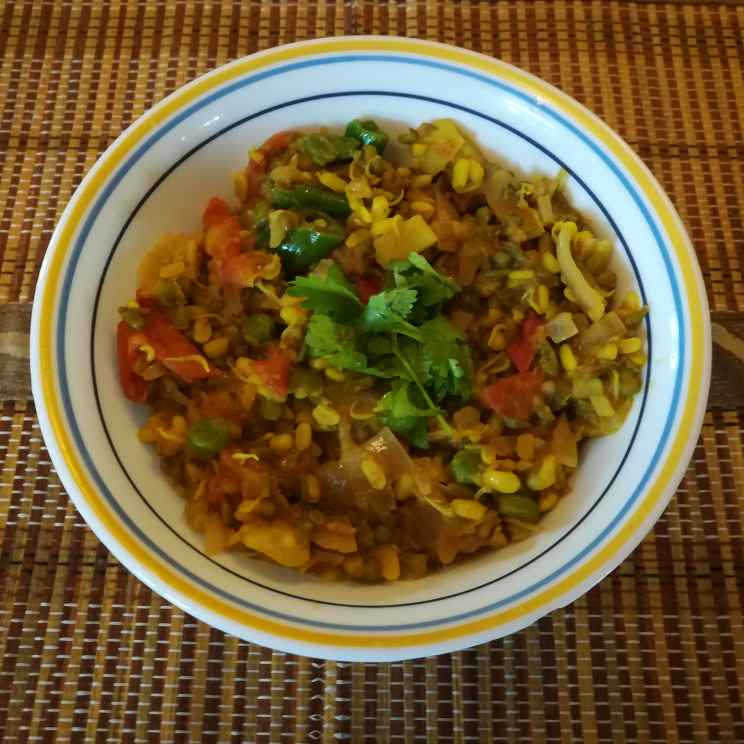 Photo of Sprouted grean gram dal by Krishnasamy Vidya Valli at BetterButter