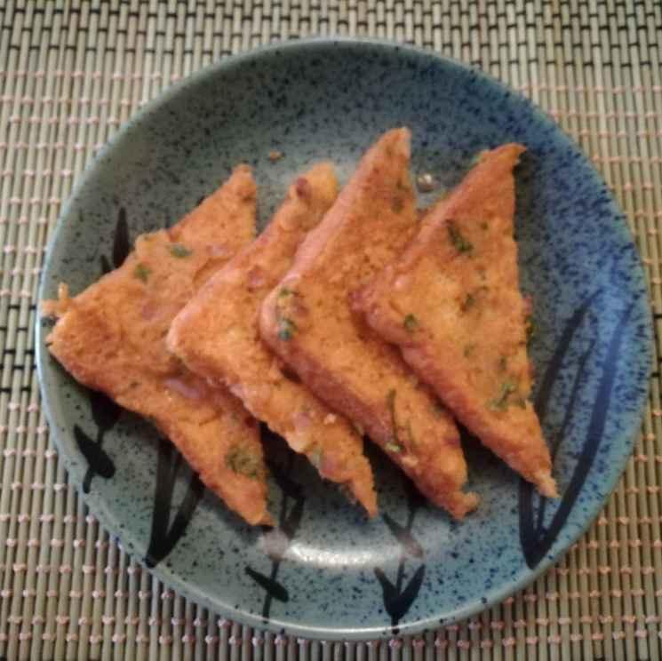 Photo of Onion  Besan toast by Krishnasamy Vidya Valli at BetterButter