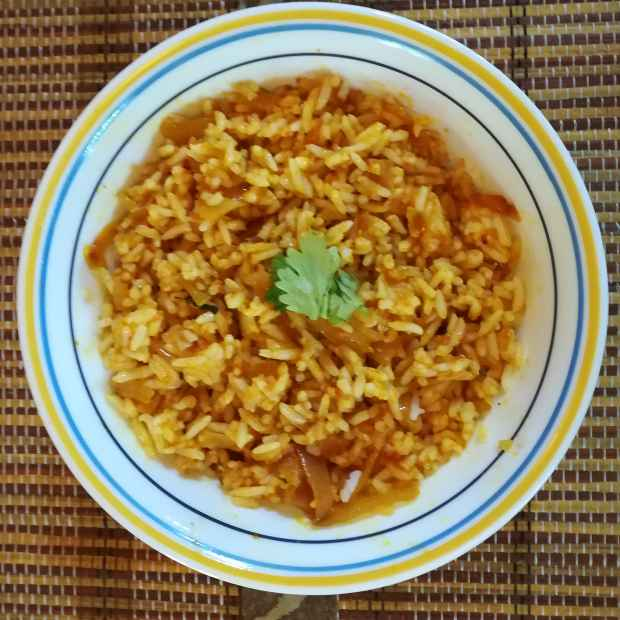 Photo of Easy tomato onion rice by Krishnasamy Vidya Valli at BetterButter