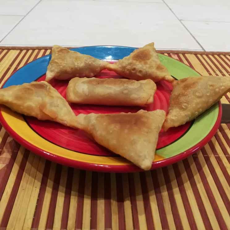 Photo of Cheese mini samosa by Krishnasamy Vidya Valli at BetterButter