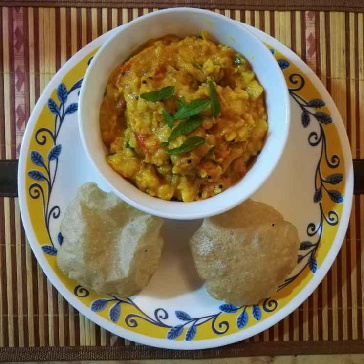 Photo of No onion no garlic masala for puri by Krishnasamy Vidya Valli at BetterButter