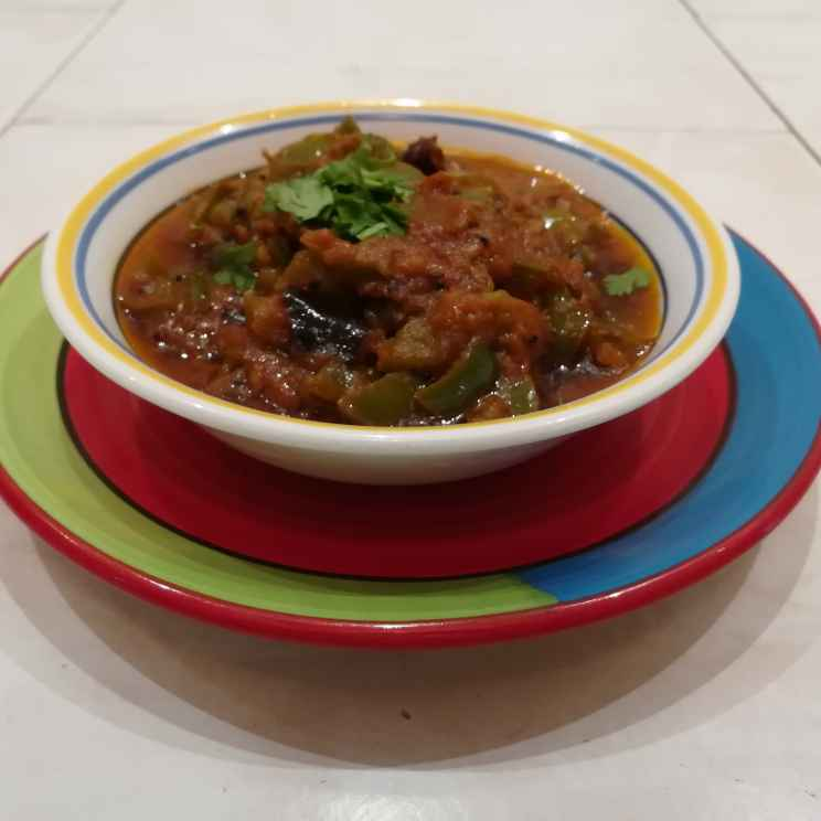 Photo of No onion no garlic capsicum tomato gravy (South Indian style ) by Krishnasamy Vidya Valli at BetterButter