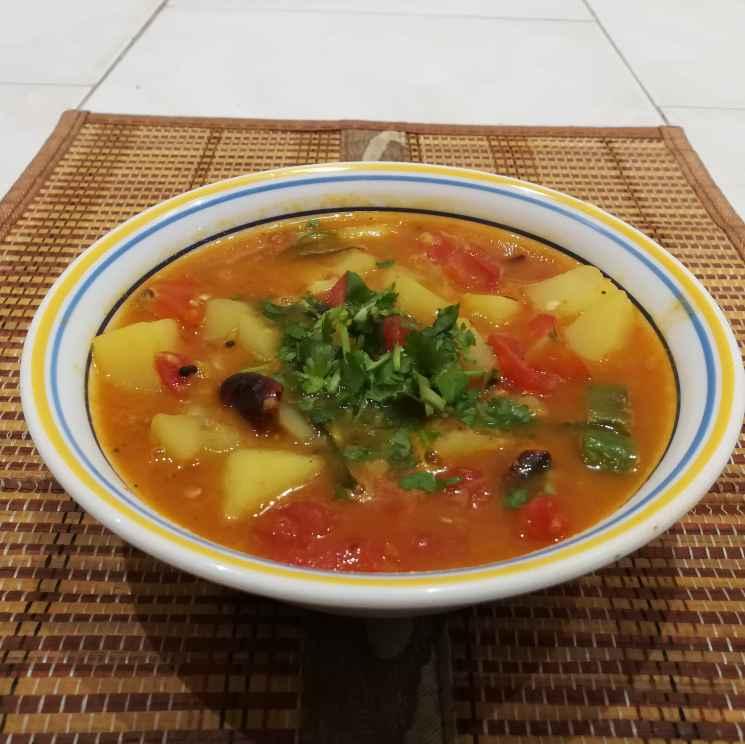 Photo of Moong dal potato sambar by Krishnasamy Vidya Valli at BetterButter