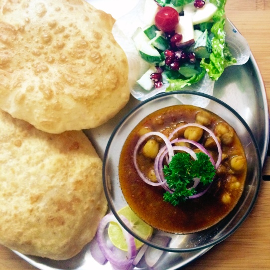 How to make Chola Bhatura - A typical Indian Street Food