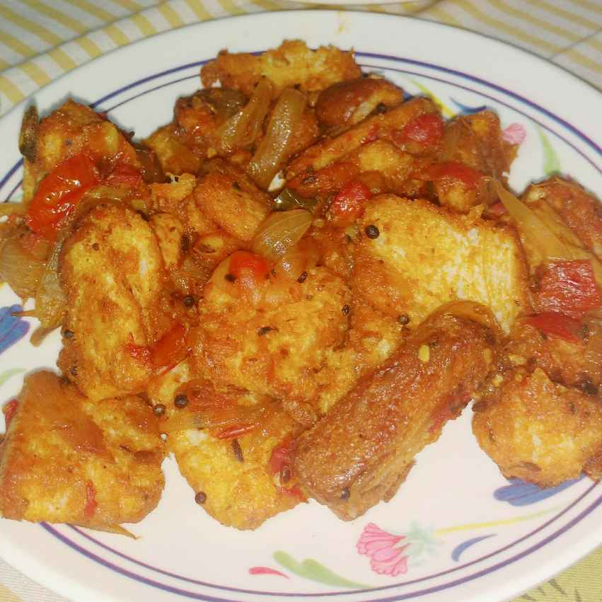 How to make Bread upma with pasta sauce