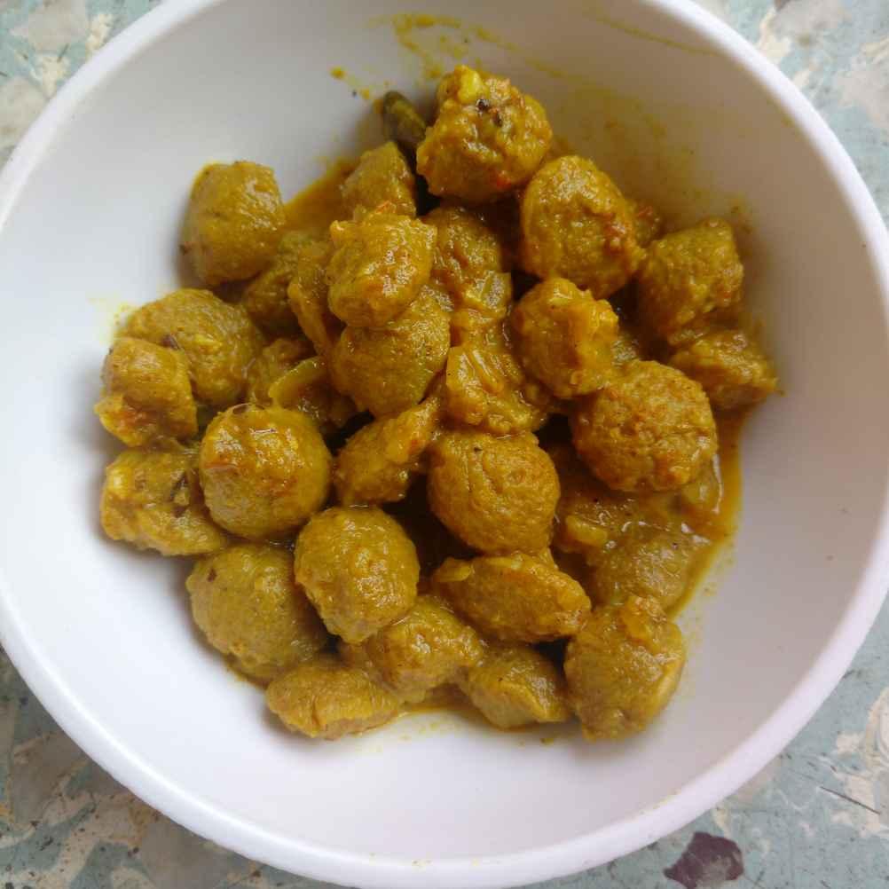 How to make Creamy soya chunks sabji