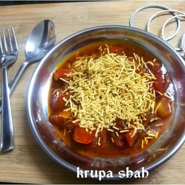 Photo of Sev Tomato vegetable (sabji) by Krupa Shah at BetterButter