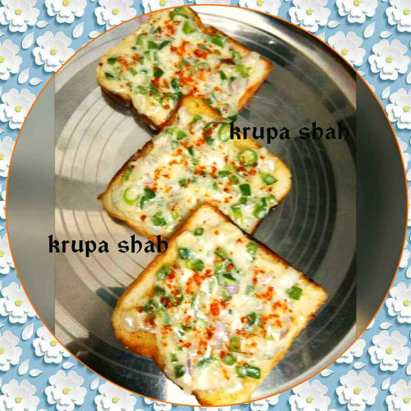 Photo of OPEN VEGETABLE CHEESE TOAST by Krupa Shah at BetterButter