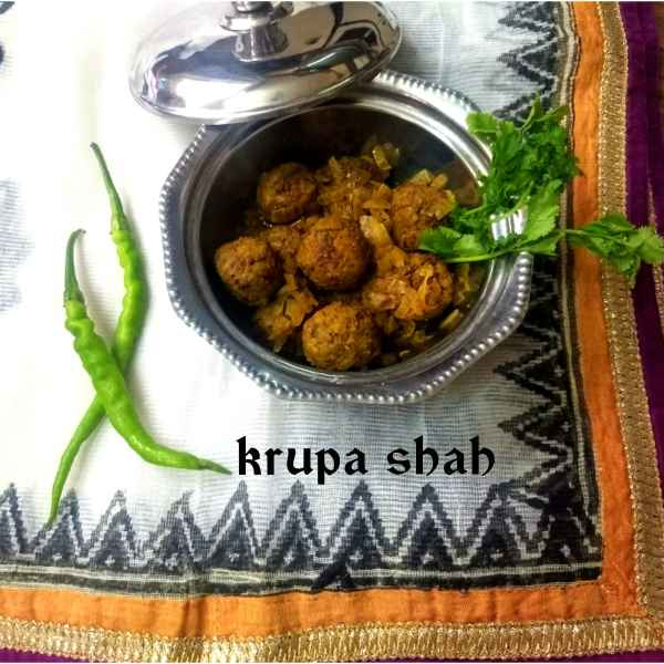 Photo of LEFTOVER RAJMA CHAVAL KOFTA by Krupa Shah at BetterButter