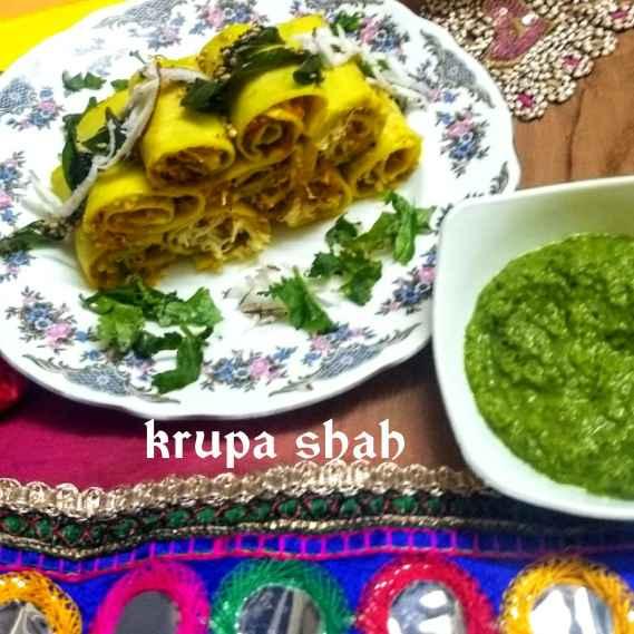 Photo of Stuffed moong dal khandvi by Krupa Shah at BetterButter