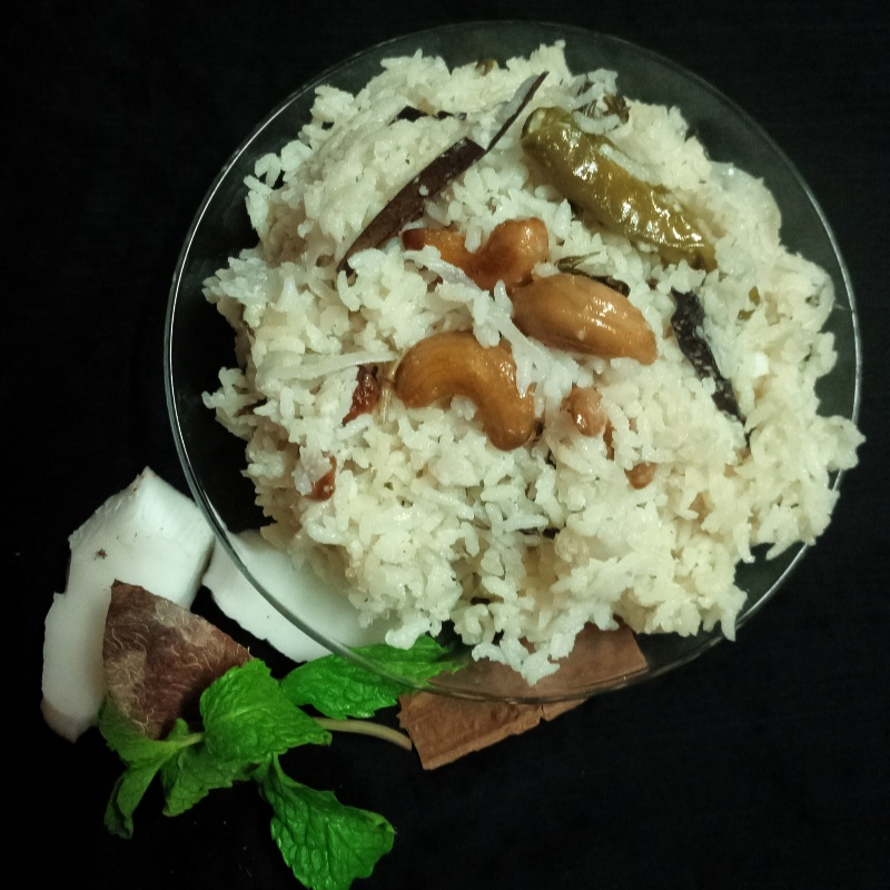 How to make Thengai Paal Sadam / Coconut Milk Rice