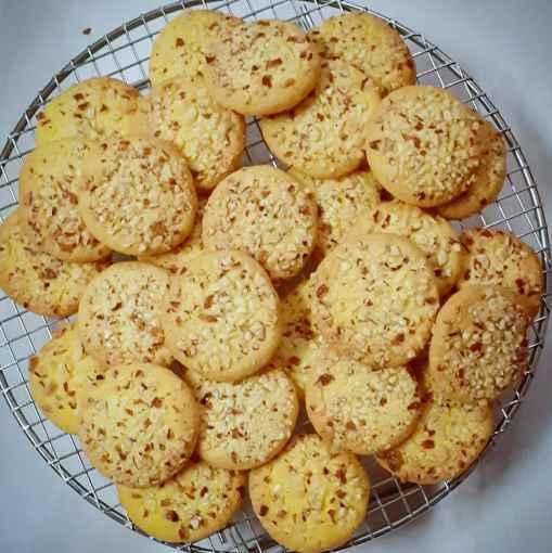 Photo of Saffron Almond Cookies by Kumuda Elavazhagan at BetterButter