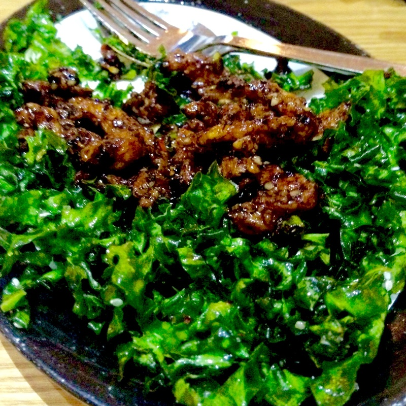 Photo of Sesame chicken with crispy spinach by Lachmi Bose at BetterButter