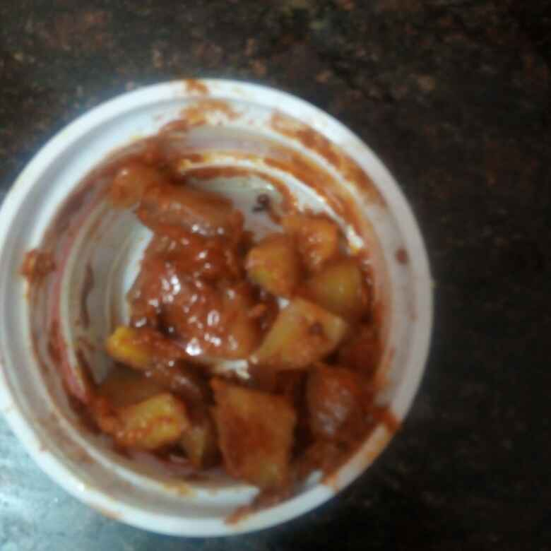How to make Sweet potato  and mango pickle