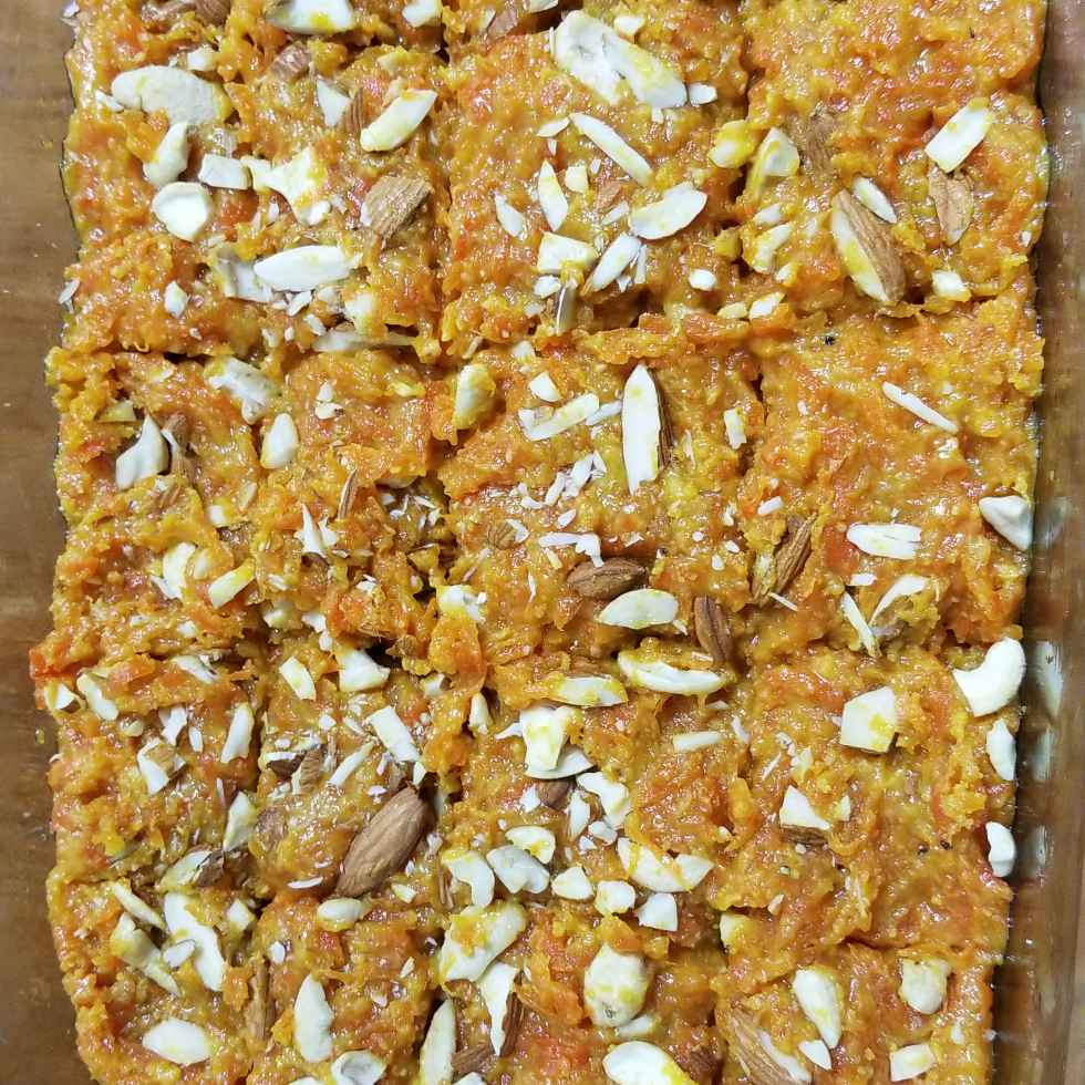 Photo of Carrot burfi with milk powder by Lalitha Kandala at BetterButter