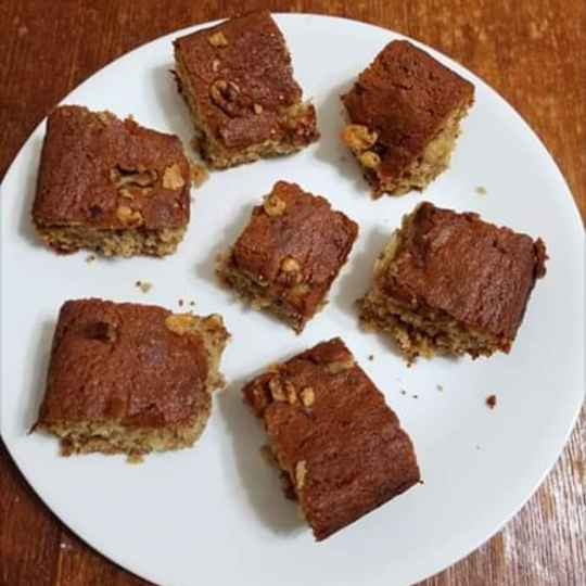 Photo of Eggless Banana walnut wheatflour cake by Lalitha Kandala at BetterButter