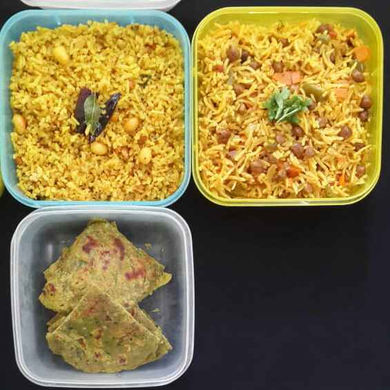 Photo of A Week's Healthy Lunch Boxes(Monday to Friday) by Sowmya Sundar at BetterButter