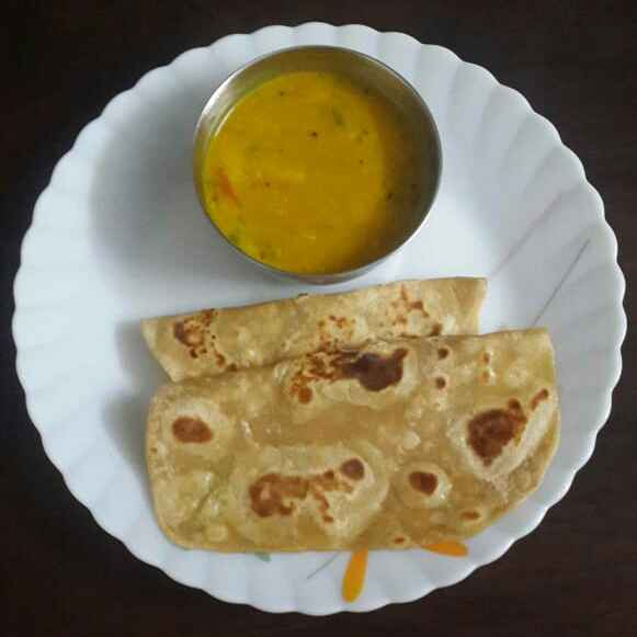 Photo of Milk Chapathi and Moong dal by Sowmya Sundar at BetterButter