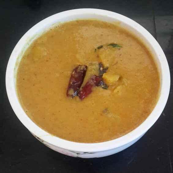 Photo of Raw Banana Poricha Kulambu by Sowmya Sundar at BetterButter