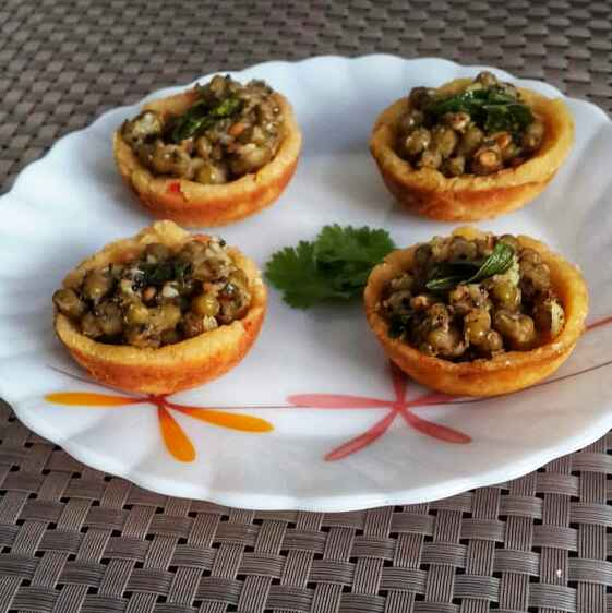 Photo of Lentil Cups with Greengram Sundal by Sowmya Sundar at BetterButter