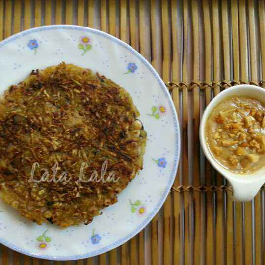 How to make Sweet Potato Rosti with Peanut Butter and Honey Dip