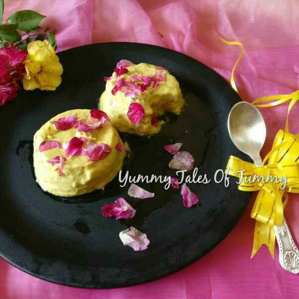 How to make Yogurt mousse with Gulkand and rose petal honey