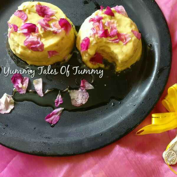 Photo of Yogurt mousse with Gulkand and rose petal honey by Lata Lala at BetterButter