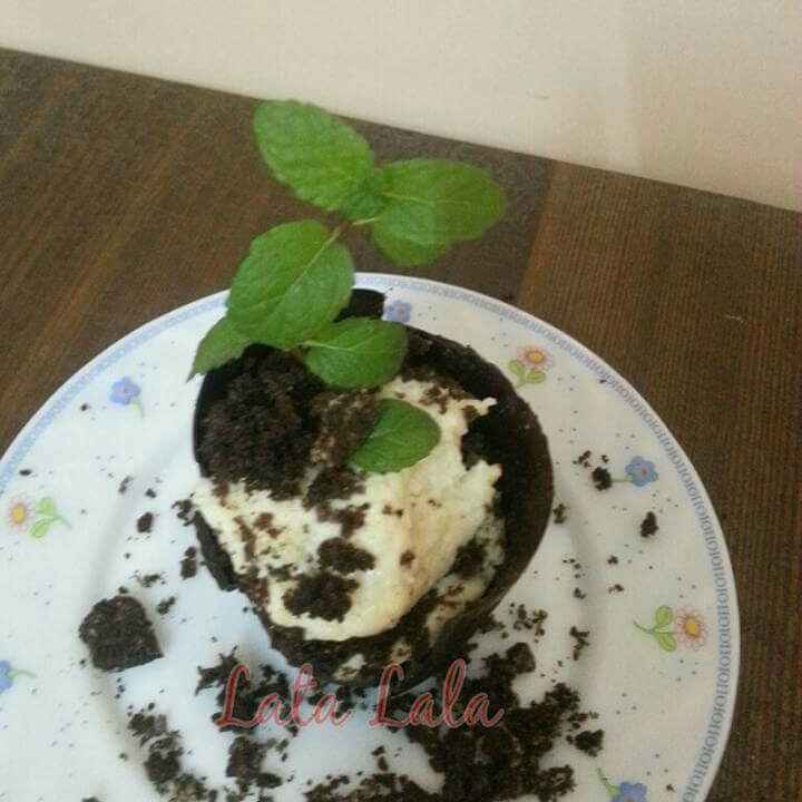 Photo of Browny  rabdi choclate flower pot by Lata Lala at BetterButter
