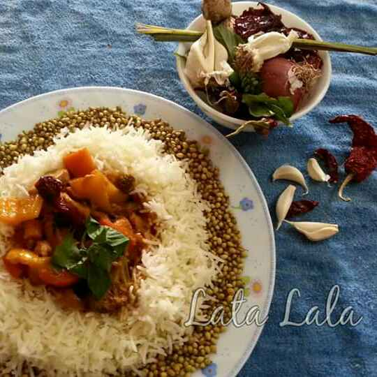 Photo of Red thai curry with steamed rice by Lata Lala at BetterButter