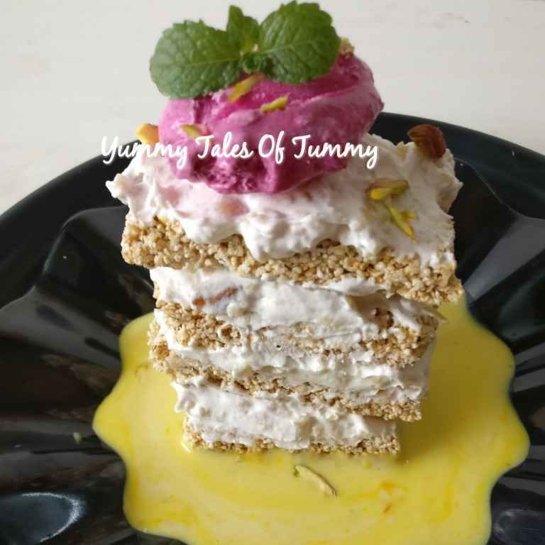 Photo of Rajgira chikki Mille Feuille by Lata Lala at BetterButter