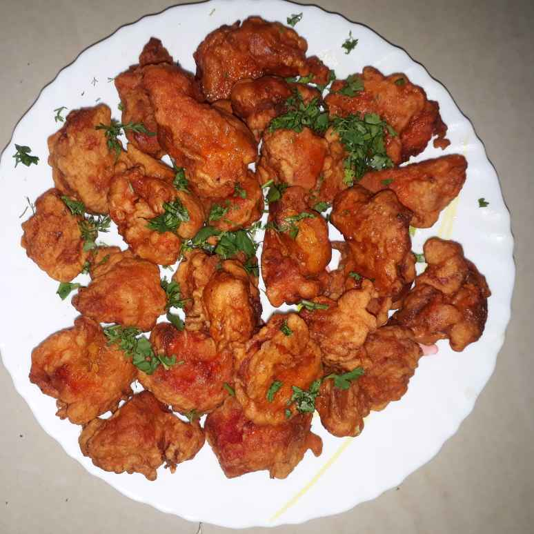 Photo of spicy and crispy chicken fry by Lata Vilaspure at BetterButter