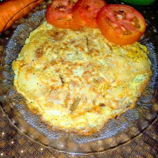 How to make Spanish omlette.