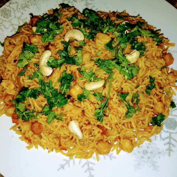 Photo of chick pea biriyani. by Latha Nair at BetterButter