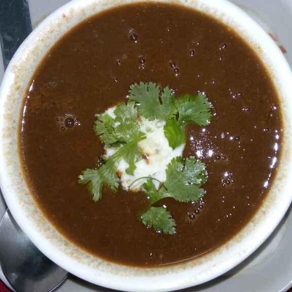 How to make Black chana tangy soup