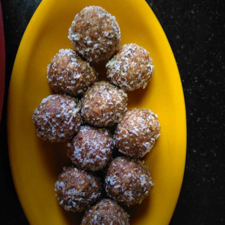 How to make Sugar free sesame date and coconut laddoos