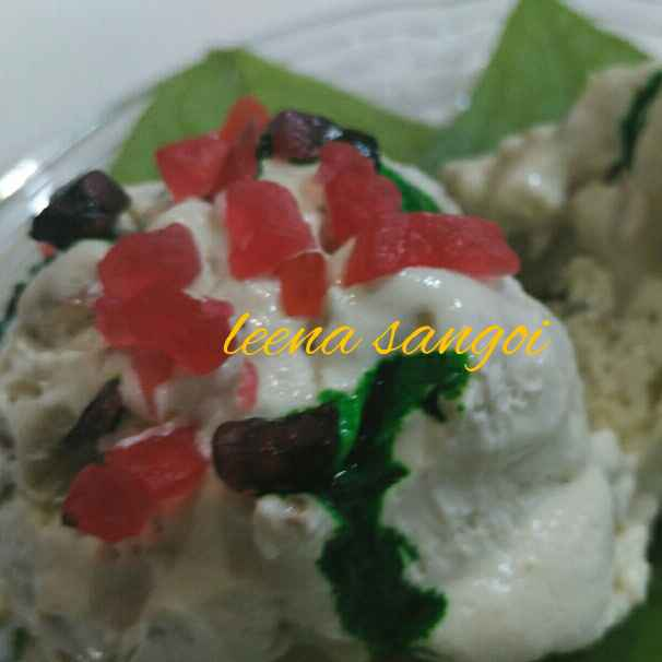 How to make summer cool Paan gulkand icecream..